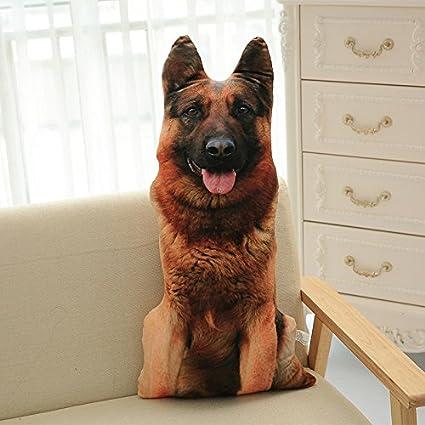 Los Peluches LUOTIANLANG Creativo 3D Simulación belldog Almohada Exquisita Ropa de Cama mobiliario de hogar decoración