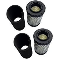 2 Pack of Air Pre Filter Replace Briggs & Stratton 796031 594201 591334 797404 John Deere MIU1303 GY21435 MIU13963 for B&S Intek 13.5-19.5 HP & Model 31A507 31A607 31A677 31E777 31G777