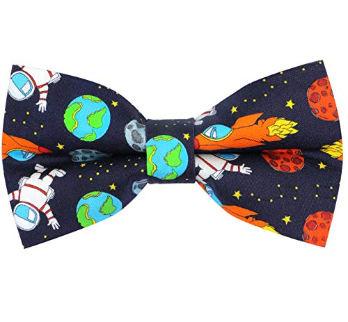 OCIA Cotton Cute Pattern Pre-tied Bow Tie Adjustable Bowties for Adult & Children Space2