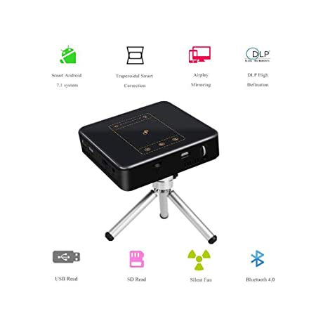 Y&XF Proyector Full HD Mini proyector portátil WiFi Bluetooth ...