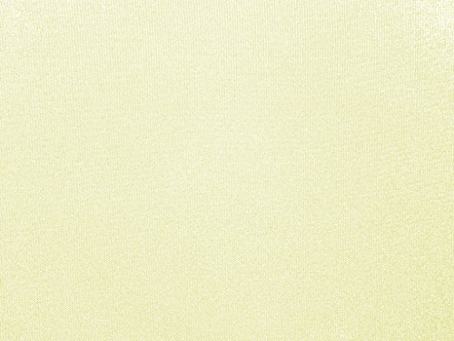 Zen Creative Designs Poly Poplin Gabardine Thick Durable and Soft Fabric 60 Inch Wide / Tablecloth Material / Crafting Quality Fabric / Sewing Friendly (5 Yards, Ivory)
