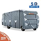 KING BIRD Upgraded Class C RV Cover, Extra-Thick 5 Layers Anti-UV Top Panel, Deluxe Camper Cover,...