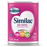 Similac Soy Isomil Infant Formula with Iron, For Fussiness and Gas, Baby Formula, Concentrated Liquid, 13 fl oz (Pack of 12)