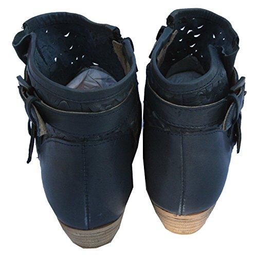 xyxyx, Damen Stiefelette Boots Booty, ,,jeansblau [17158] Jeansblau