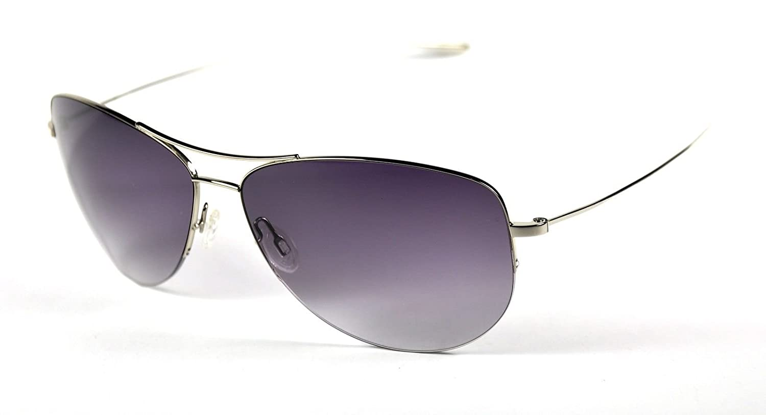 6aba00f54c69a Amazon.com  OLIVER PEOPLES STRUMMER color SILVER Sunglasses  Clothing