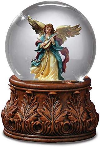 The San Francisco Music Box Company Angel Playing Mandolin Water Globe