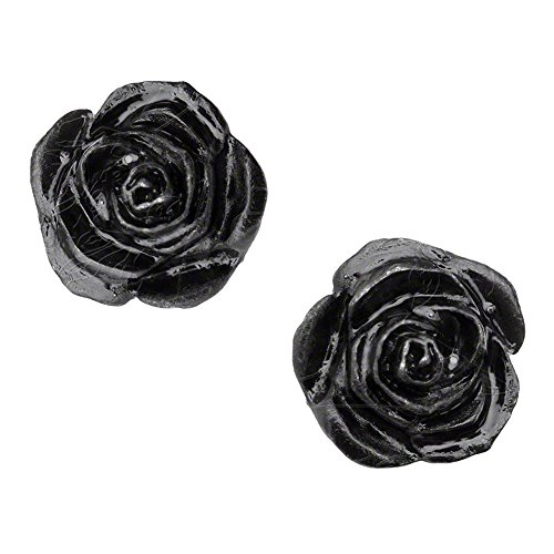 Alchemy Unisex Gothic Rose Stud Earrings ()