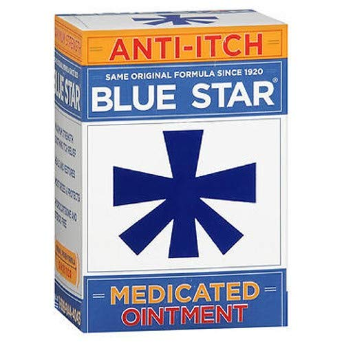 Blue Star Anti-Itch Medicated Ointment 2 oz (Pack of 3) by Blue Star