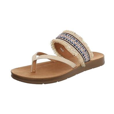 Ital Design Damenschuhe Sandalen  Sandaletten Zehentrenner