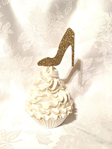 Amazon Com Glitter High Heel Shoe Cupcake Toppers Many Colors