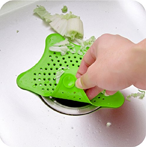 DreamInn Rubber Starfish Drain Cover Sink Strainer for Kitchen and Bathroom(Pack of 3)