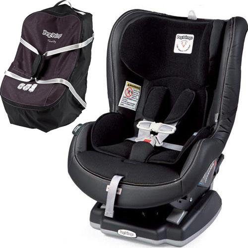 Peg Perego Primo Viaggio Convertible Car Seat - Licorice with Travel Bag