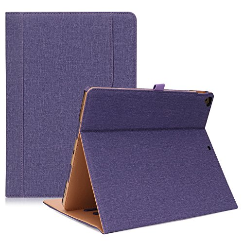ProCase iPad Pro 12.9 2017/2015 Case (Old Model) - Stand Folio Case Cover for Apple iPad Pro 12.9 Inch (Both 2017 and 2015 Models), with Multiple Viewing Angles, Apple Pencil Holder -Purple