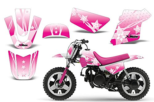 Kit Graphics Decal (Starlett-AMRRACING MX Graphics decal kit fits Yamaha PW50 All years-Pink)