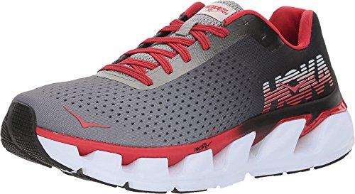 HOKA ONE ONE Men's Elevon Running Shoe (12 D US, Black/Racing Red)