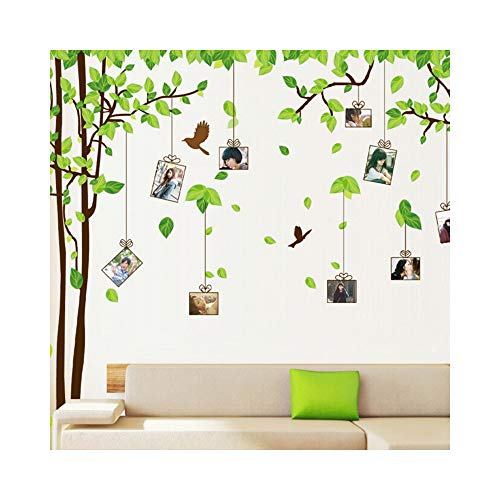 Large Memory Tree Photo Frames Combination DIY Wall Stickers Removable Transparent Wall Decals Art For Living Room Bedroom Decorative Home Decoration Stickers Mural (AM9019)