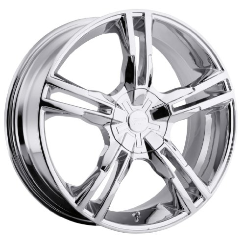 Platinum Saber 16 Chrome Wheel / Rim 5×112 & 5×120 with a 42mm Offset and a 74 Hub Bore. Partnumber 292-6722C