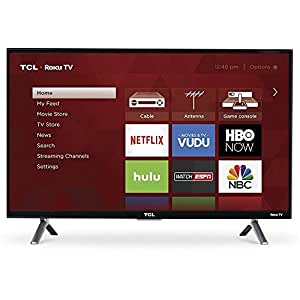 TCL 55-Inch 4K Smart LED TV 55S405 (2017) with Roku