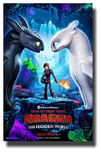 How To Train Your Dragon 3 Poster Movie Promo 11 x 17 inches The Hidden World -