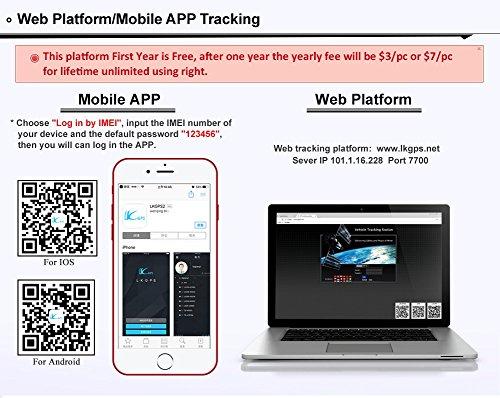 3G GPS Tracker Car Tracking Device Vehicle GPS Tracker Magnetic WIFI GPS Locator 20000mAh Battery Waterproof IP67 Prazata (3G Tracker 20000mAh Battery) by Prazata (Image #7)