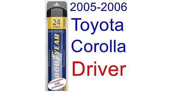 2005 - 2006 Toyota Corolla XRS hoja de limpiaparabrisas de repuesto ...
