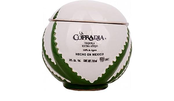 Cofradia Tequila Balón Extra Añejo Cerámica - 700 ml: Amazon.es ...