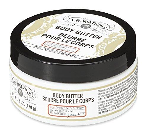 J.R. Watkins Body Butter, Coconut Milk & Honey, 6 ounce
