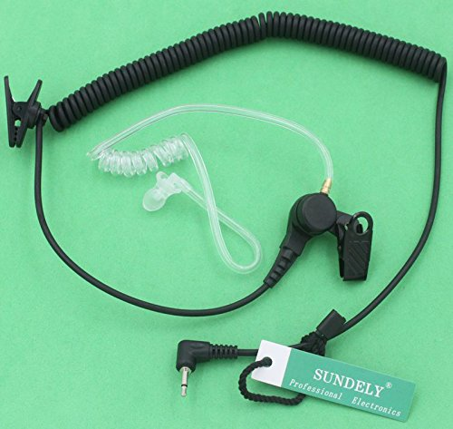 SUNDELY Universal Listen-Only Acoustic Tube Headset/Earpiece For Kenwood Radio Walkie Talkie (with 2.5mm jack)