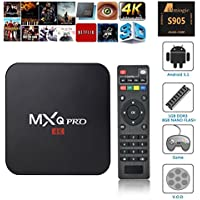 VENSMILE MXQ Pro Android TV Box Amlogic S905 Chipset Kodi 15.2 Full Loaded Android 5.1 Lollipop OS TV Box Quad Core 1G/8G 4K Google Streaming Media Players with WiFi HDMI DLNA