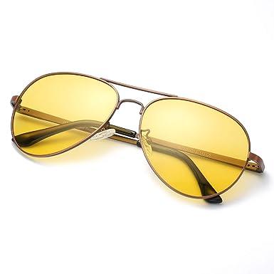 4562f6d68873 Amazon.com  SODQW Aviator Night Vision Driving Anti-Glare Glasses ...