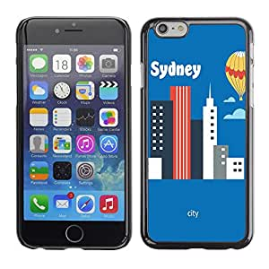 Dragon Case - FOR iPhone 6 - I like sydney - Caja protectora de pl??stico duro de la cubierta Dise?¡Ào Slim Fit