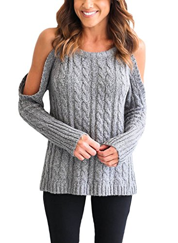 Astylish Shoulder Knitted Sweater Pullover