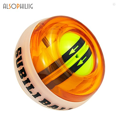 Auto Start Powerball Workout Toy Spinner Gyroscope Ball Wrist Arm Strengthener Forearm Exerciser with LED lights