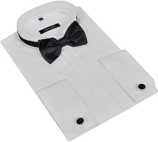 FESTNIGHT Camisa para Hombre con Gemelos y Pajarita M: Amazon.es: Hogar