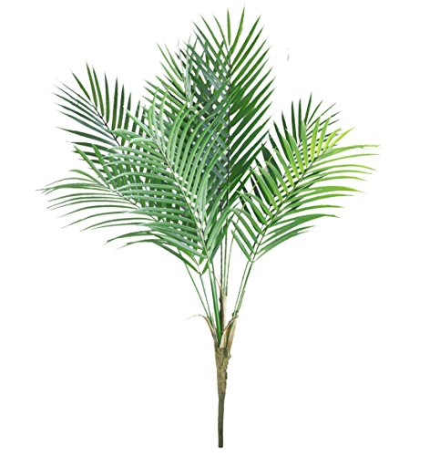 Bird Fiy Artificial Plants Palm Tree Faux Palm Leaves Greenery Tropical Palm Green Plastic Plant Leaf for Jungle Party Decorations Outdoor Decor / 33.5