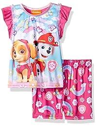 Nickelodeon girls Toddler Girls Paw Patrol Toddler 2pc Pajama Short Set