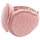LerBen Unisex Knit Adjustable Wrap around Ear Muffs Winter Warm Fur Ear Warmers
