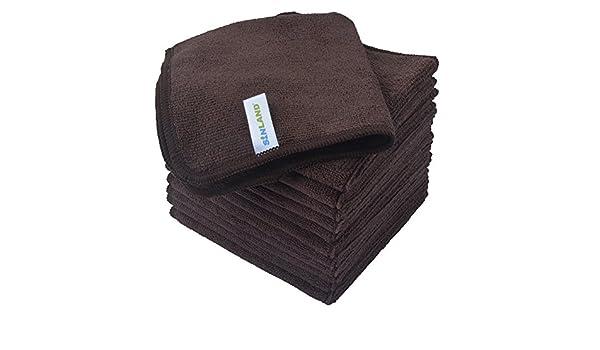12 toallas microfibra - Color Marrón Oscuro - Violetta - 2018 - muy bella acabado, y calidad incomparable - Ideal para Salons de peluquería - barbershops ...