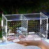 ZEROYOYO Aquarium Acrylic Transparent Fish Tank Breeding Isolation Box Fish Breeder Box for Hatchery Incubator