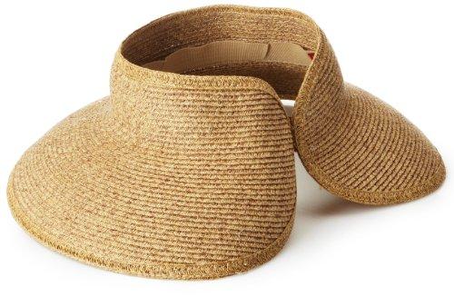 San Diego Hat UPF 50+ Wide Brim Roll-up Sun Visor Hat (Coffee)