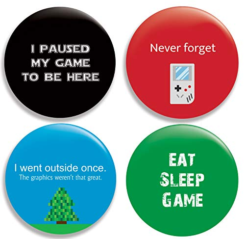 - Funny Gaming Pinback Buttons/Pins (2.25 inches) Set of 4