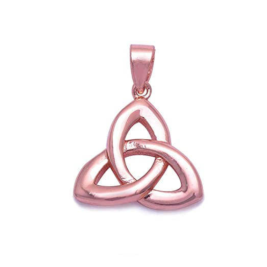 Amazon twisted celtic knot motherhood pendant charm for twisted celtic knot motherhood pendant charm for necklace pink rose tone plated 925 sterling silver mozeypictures Gallery