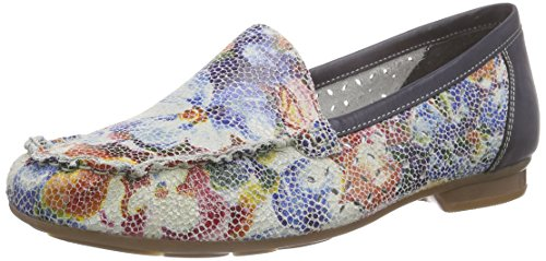 Rieker 40089 - Mocasines Mujer Multicolor (Ice-multi/ozean / 91)
