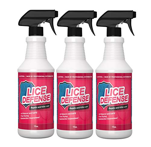 Lice Defense Repellent Spray Treatment_Kill and Repel Carpets Bedding School Backpacks 3 Pack