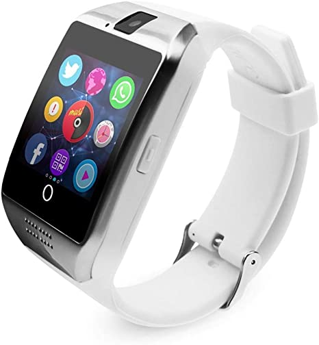 FSDRFRF Reloj Inteligente Bluetooth Smartwatch Fitness Tracker Smart Watch Passometer para iPhone Xiaomi Huawei Android Smartphone, Blanco: Amazon.es: Deportes y aire libre