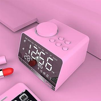 LUOXU Despertador con Cargador USB/Altavoz de Alarma ...