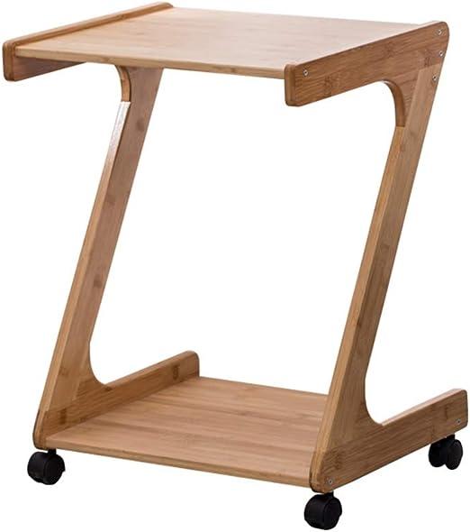 HPLL Mesa Auxiliar para Mesa auxiliar, esquina de bambú en forma ...
