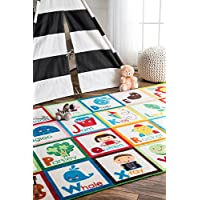 nuLOOM Alphabet Block Kids Rug, 3