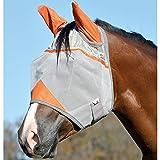 Cashel Crusader Standard Fly Mask with Orange Ears, Animal Rescue Benefit - Size: Horse
