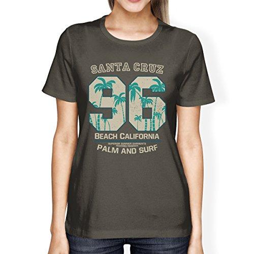 365 de Santa Beach Cruz manga camiseta California corta Printing qaqBU